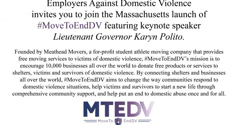 #MoveToEndDV Launch Event!